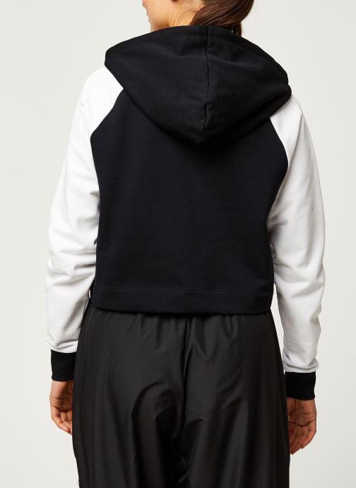Vêtements Hummel Hmlchill Short Hoodie Noir vue portées chaussures
