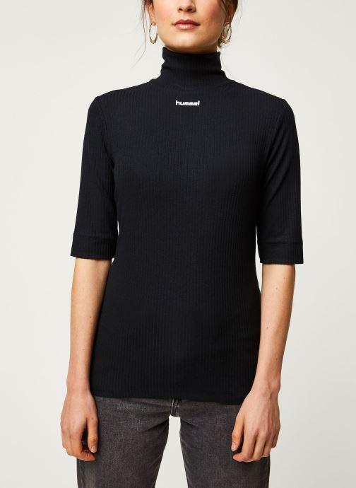 Vêtements Hummel Hmlcaroline Rib Turtleneck Noir vue droite