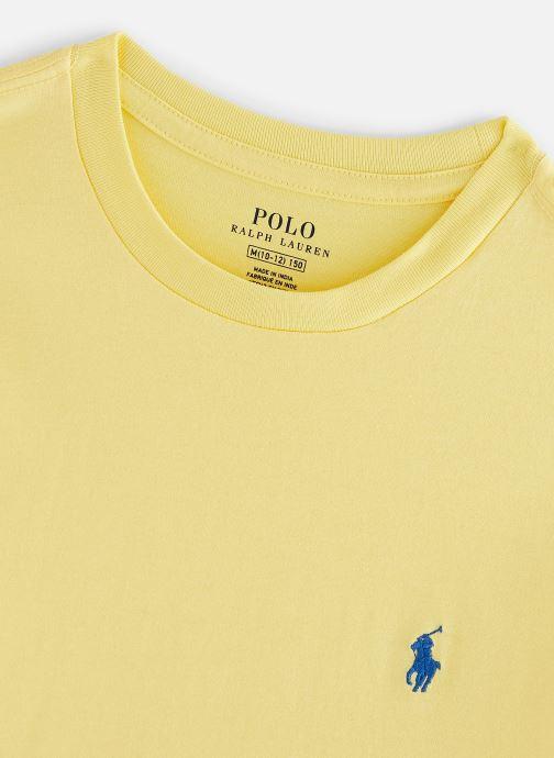 Vêtements Polo Ralph Lauren Ss Cn-Tops-T-Shirt Jaune vue portées chaussures