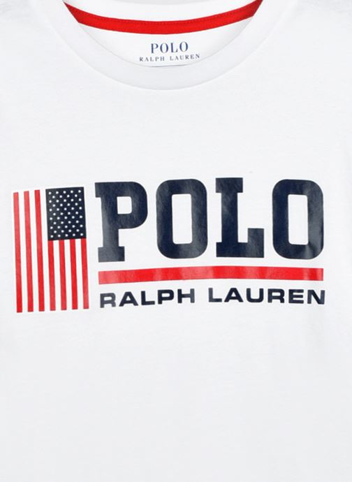 Vêtements Polo Ralph Lauren Ss Cn-Tops-T-Shirt Blanc vue face