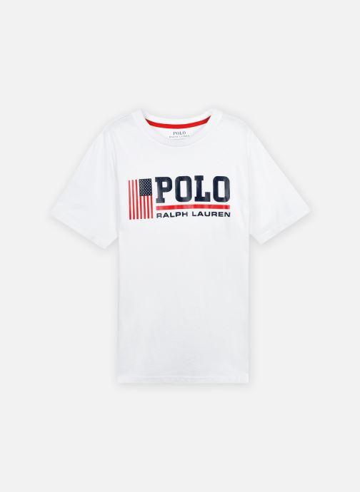 Vêtements Polo Ralph Lauren Ss Cn-Tops-T-Shirt Blanc vue détail/paire