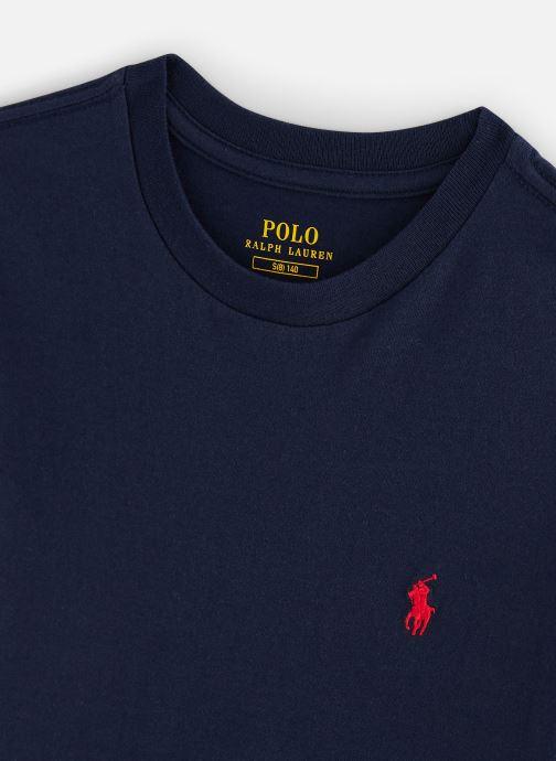 Vêtements Polo Ralph Lauren Cn Tee-Tops-Knit Bleu vue portées chaussures