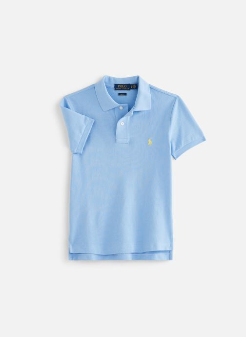Vêtements Polo Ralph Lauren Slim Polo-Tops-Knit Bleu vue détail/paire