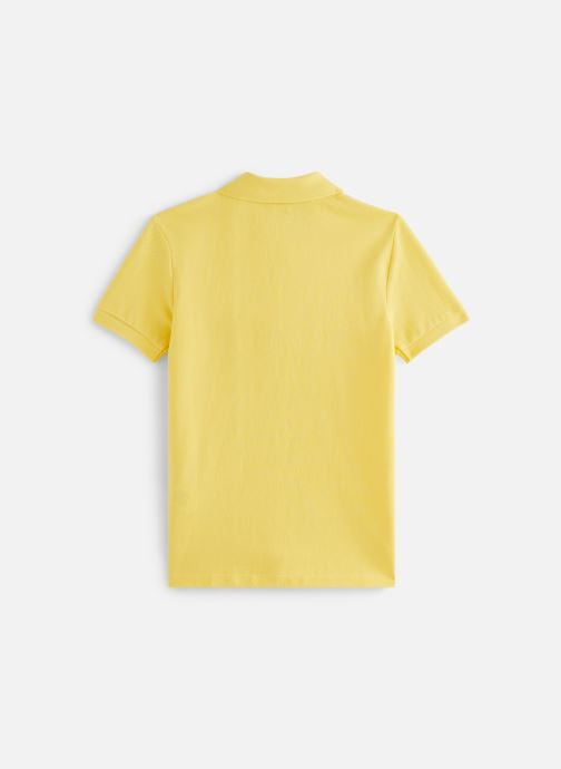 Vêtements Polo Ralph Lauren Slim Polo-Tops-Knit Jaune vue bas / vue portée sac