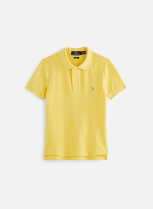 Vêtements Polo Ralph Lauren Slim Polo-Tops-Knit Jaune vue détail/paire