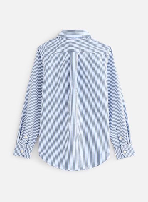 Vêtements Polo Ralph Lauren Custom Fit-Tops-Shirt Bleu vue bas / vue portée sac