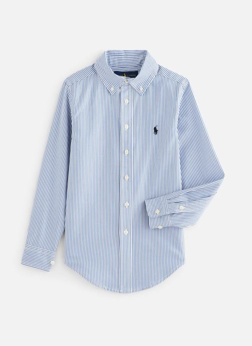Vêtements Polo Ralph Lauren Custom Fit-Tops-Shirt Bleu vue détail/paire