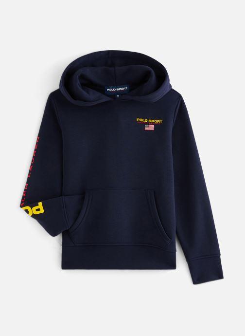 Vêtements Polo Ralph Lauren Ls Po Hood-Tops-Knit Bleu vue détail/paire