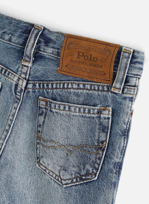 Vêtements Polo Ralph Lauren Sf Short Raw-Bottoms-Denim Bleu vue portées chaussures