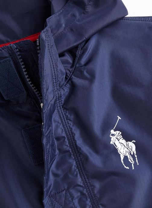 Vêtements Polo Ralph Lauren Perf Pullovr-Outerwear-Jacket Bleu vue portées chaussures