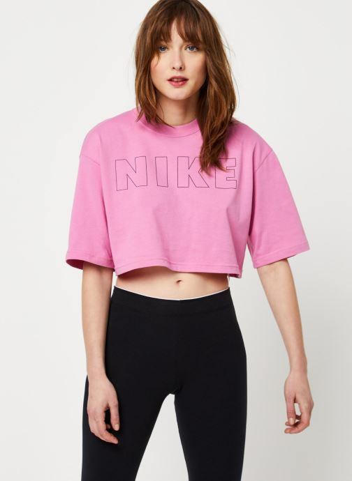 Kleding Nike W Nsw Air Top Ss Crop Roze detail
