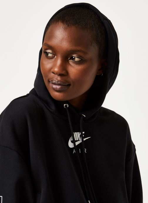 Vêtements Nike W Nsw Air Hoodie Flc Bb Noir vue face