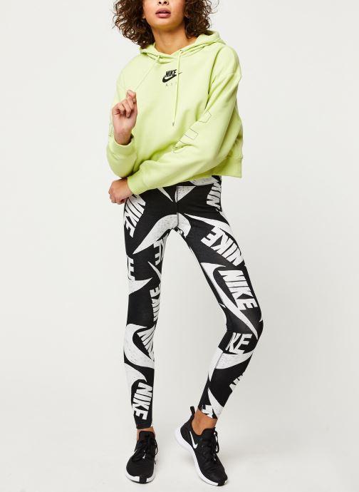Vêtements Nike W Nsw Air Hoodie Flc Bb Jaune vue bas / vue portée sac
