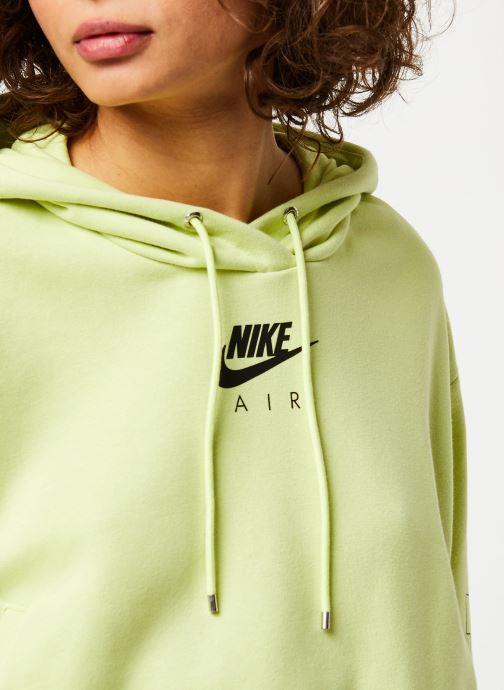 Vêtements Nike W Nsw Air Hoodie Flc Bb Jaune vue face