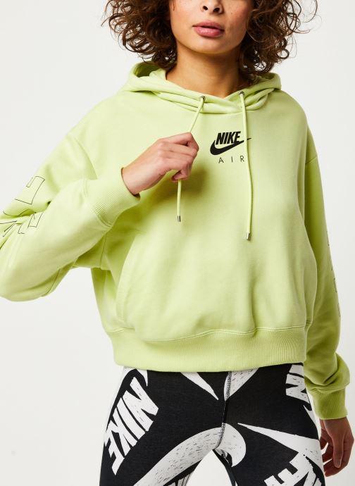 Vêtements Nike W Nsw Air Hoodie Flc Bb Jaune vue droite