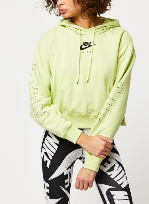 Vêtements Nike W Nsw Air Hoodie Flc Bb Jaune vue détail/paire