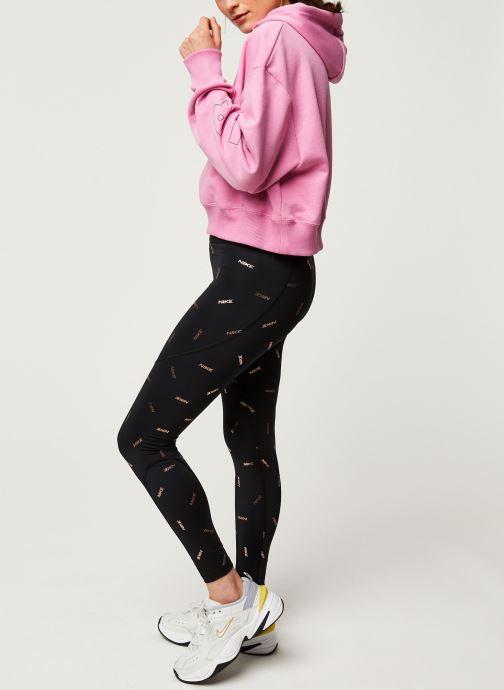 Vêtements Nike W Nsw Air Hoodie Flc Bb Rose vue bas / vue portée sac