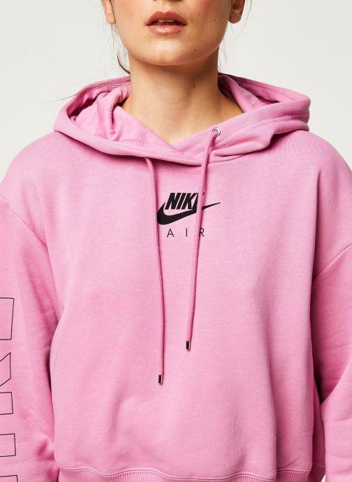 Vêtements Nike W Nsw Air Hoodie Flc Bb Rose vue face