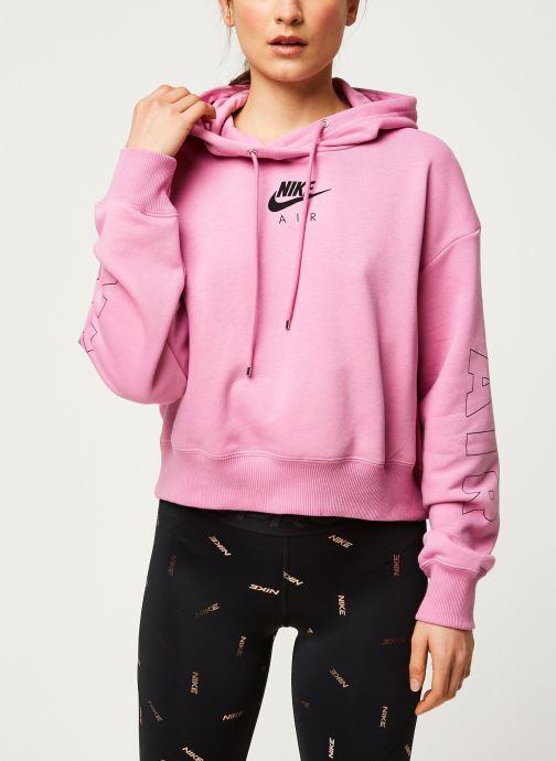 Vêtements Nike W Nsw Air Hoodie Flc Bb Rose vue droite