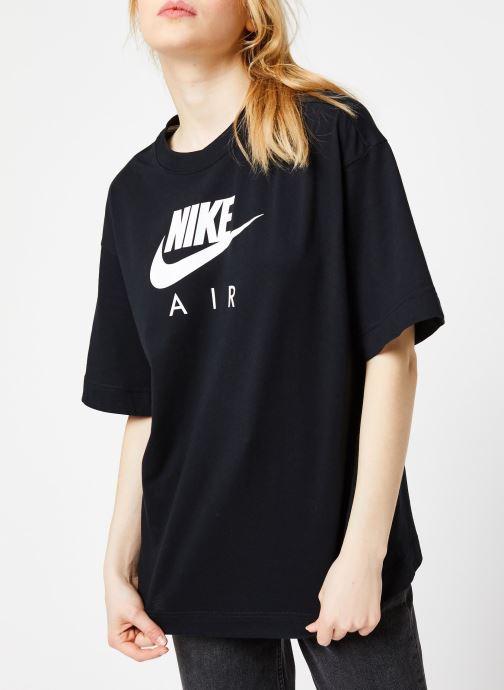 Tøj Nike W Nsw Air Top Ss Bf Sort Se fra højre