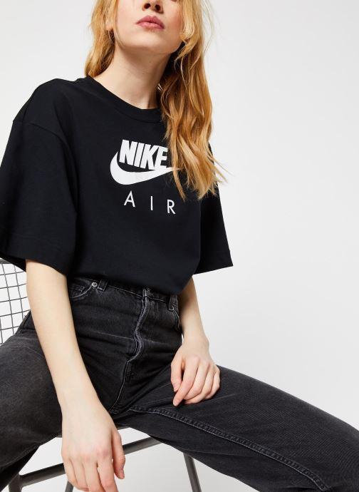 Vêtements Nike W Nsw Air Top Ss Bf Noir vue détail/paire