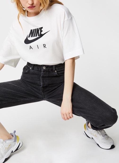 Vêtements Nike W Nsw Air Top Ss Bf Blanc vue bas / vue portée sac