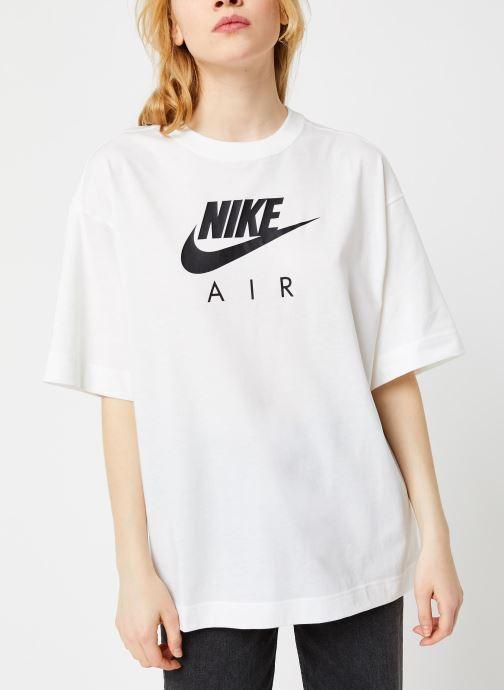 Vêtements Nike W Nsw Air Top Ss Bf Blanc vue droite