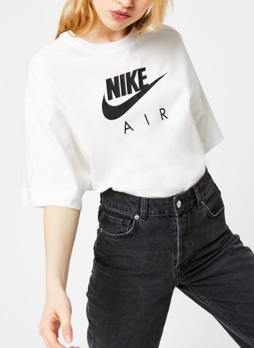 Vêtements Nike W Nsw Air Top Ss Bf Blanc vue détail/paire