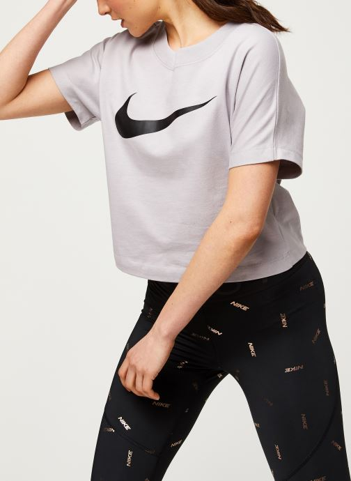 Kleding Nike W Nsw Swsh Top Ss Paars detail
