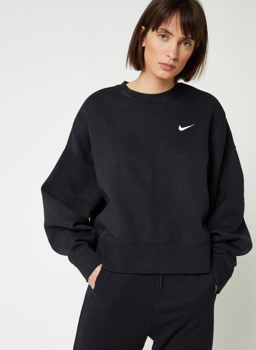 Tøj Nike W Nsw Crew Flc Trend Sort detaljeret billede af skoene