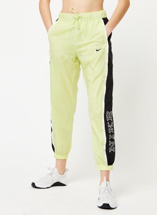 Vêtements Nike W Nsw Pant Wvn Piping Jaune vue détail/paire