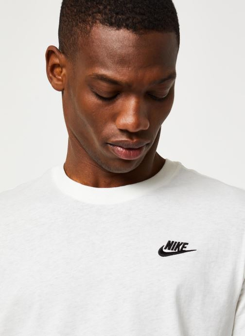 Vêtements Nike M Nsw Club Tee Blanc vue face