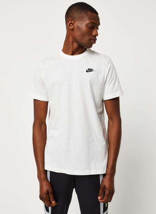 Vêtements Nike M Nsw Club Tee Blanc vue droite