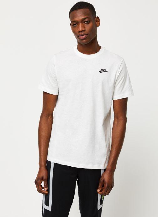 Vêtements Nike M Nsw Club Tee Blanc vue détail/paire