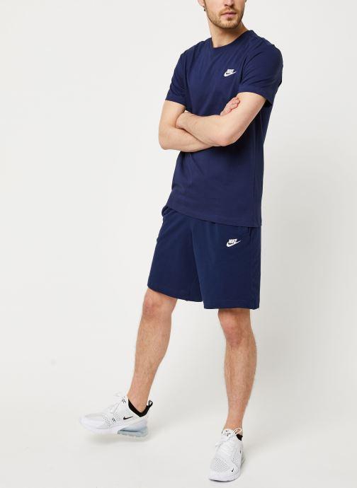 Vêtements Nike M Nsw Club Tee Bleu vue bas / vue portée sac