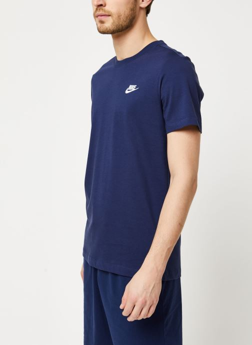 Vêtements Nike M Nsw Club Tee Bleu vue droite