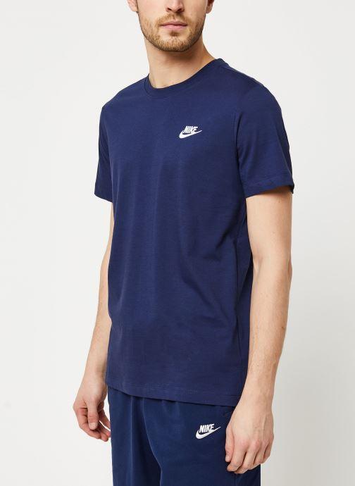 Vêtements Nike M Nsw Club Tee Bleu vue détail/paire