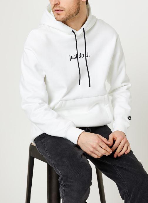 Vêtements Nike M Nsw Jdi Hoodie Po Flc Hvywt Blanc vue détail/paire