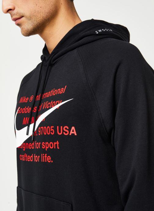 Vêtements Nike M Nsw Swoosh Hoodie Po Ft Noir vue face