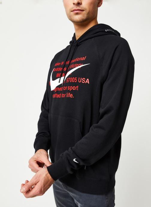 Vêtements Nike M Nsw Swoosh Hoodie Po Ft Noir vue droite