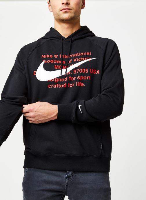 Vêtements Nike M Nsw Swoosh Hoodie Po Ft Noir vue détail/paire
