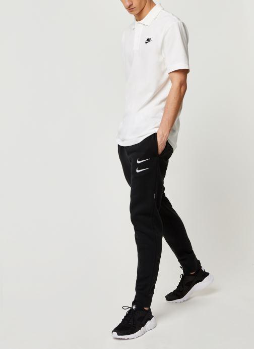 Kleding Nike M Nsw Swoosh Pant Bb Zwart onder