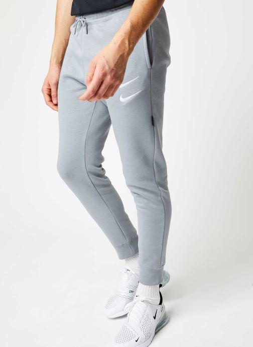 Vêtements Nike M Nsw Swoosh Pant Bb Gris vue détail/paire