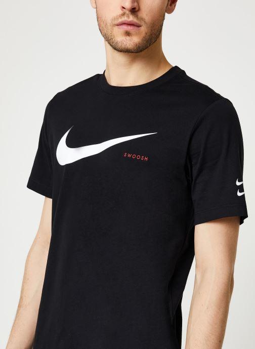 Vêtements Nike M Nsw Swoosh Hbr Ss Tee Noir vue face