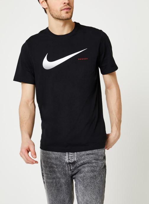 Vêtements Nike M Nsw Swoosh Hbr Ss Tee Noir vue droite