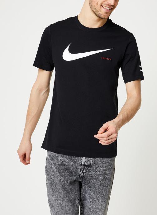 Vêtements Nike M Nsw Swoosh Hbr Ss Tee Noir vue détail/paire