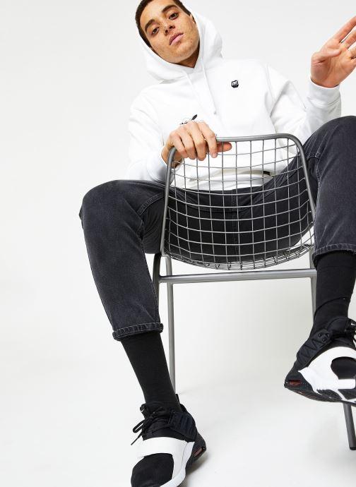 Vêtements Nike M Nsw Bb Flc Po Hoodie Ssnl 3 Blanc vue bas / vue portée sac