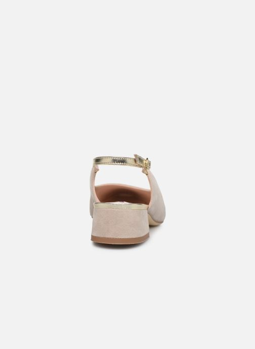 Zapatos de tacón Parallèle HELIX Beige vista lateral derecha