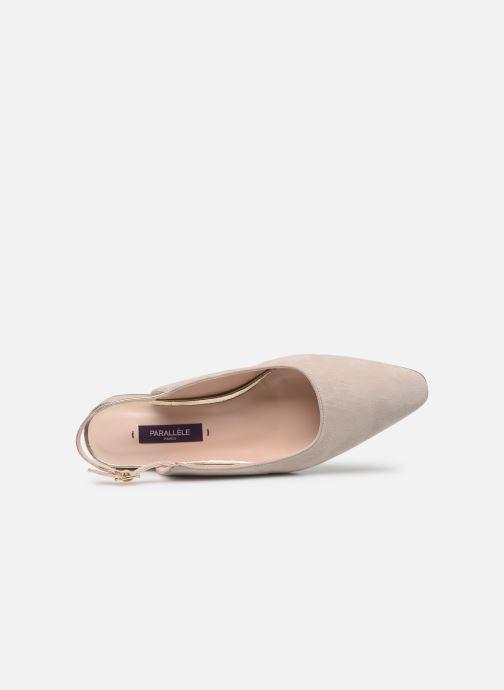 Zapatos de tacón Parallèle HELIX Beige vista lateral izquierda