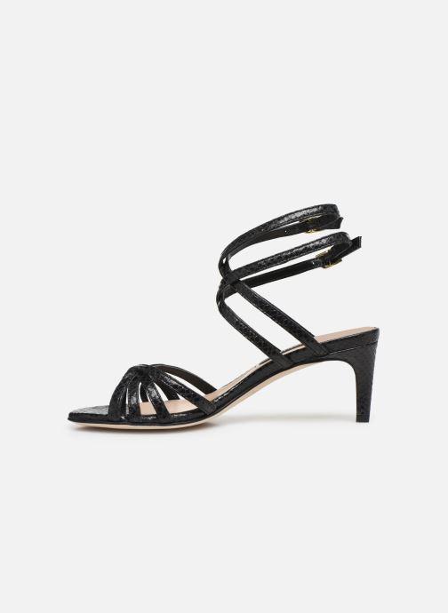 Sandales et nu-pieds Parallèle INAGA Noir vue face